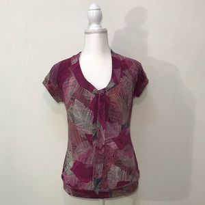 Worthington Stretchy Pink Purple Top Size Small